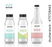 trendy water bottle template ... | Shutterstock .eps vector #475728463
