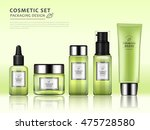chic cosmetic package template  ... | Shutterstock .eps vector #475728580