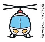 helicopter vector icon | Shutterstock .eps vector #475729750