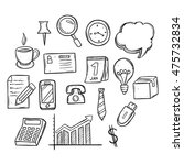 success business planning icons ... | Shutterstock .eps vector #475732834
