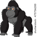 funny gorilla isolated on white ... | Shutterstock . vector #475736200