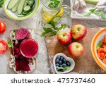 different fruits  juice and... | Shutterstock . vector #475737460