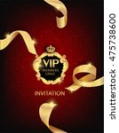 vip invitation card with... | Shutterstock .eps vector #475738600