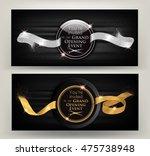grand opening event  horizontal ... | Shutterstock .eps vector #475738948