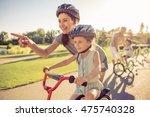 Happy Family Is Riding Bikes...