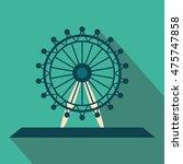ferris wheel long shadow flat... | Shutterstock .eps vector #475747858