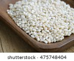 close up of pearl barley pearl... | Shutterstock . vector #475748404