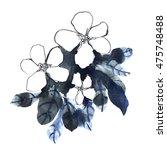 pencil  watercolor black and... | Shutterstock . vector #475748488
