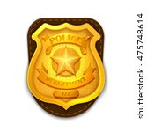 gold realistic police ... | Shutterstock .eps vector #475748614