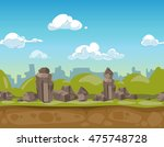 seamless cartoon park landscape ...