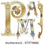 capitals and initials of the... | Shutterstock .eps vector #47574886