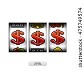 slot machine with dollars... | Shutterstock .eps vector #475749574