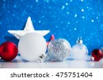 red  silver and white xmas... | Shutterstock . vector #475751404