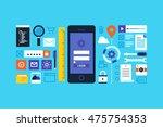 mobile application development  ...   Shutterstock .eps vector #475754353