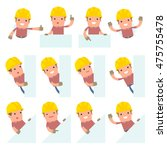 set of funny and cheerful... | Shutterstock .eps vector #475755478