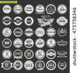 vintage sale labels collection...   Shutterstock .eps vector #475758346