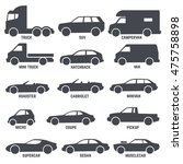 car automobile types black... | Shutterstock .eps vector #475758898