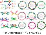 wedding invitation    Shutterstock .eps vector #475767583