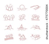 landscape icons set   isolated... | Shutterstock .eps vector #475770004
