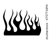 flame tattoo tribal vector... | Shutterstock .eps vector #475771894