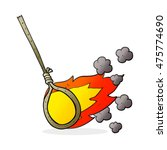freehand drawn cartoon flaming... | Shutterstock . vector #475774690