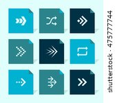 vector flat icons set   arrows
