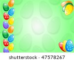 background with easter eggs.... | Shutterstock .eps vector #47578267
