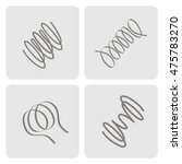 set of monochrome icons with... | Shutterstock .eps vector #475783270