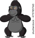 strong gorilla cartoon | Shutterstock . vector #475785760
