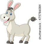 cartoon funny donkey | Shutterstock .eps vector #475786084