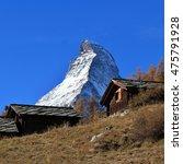 Peak Of Mt Matterhorn And Old...