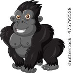 cute gorilla isolated on white... | Shutterstock .eps vector #475792528