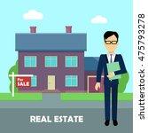 real estate conceptual vector...   Shutterstock .eps vector #475793278