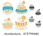 summer  travel and vacation... | Shutterstock . vector #475799680