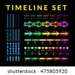 timeline infographic set   Shutterstock . vector #475805920