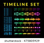 timeline infographic vector set   Shutterstock .eps vector #475805929