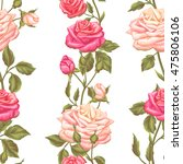 seamless pattern with vintage... | Shutterstock .eps vector #475806106