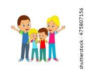 family hugging each other ... | Shutterstock .eps vector #475807156