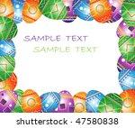 easter greeting frame. bright...   Shutterstock .eps vector #47580838
