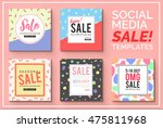 stylish social media sale... | Shutterstock .eps vector #475811968