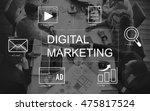 digital marketing media... | Shutterstock . vector #475817524