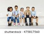 kids fun children playful... | Shutterstock . vector #475817560