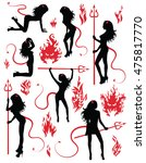 collection set of beautiful... | Shutterstock .eps vector #475817770