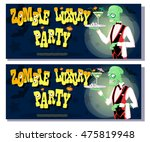 set of banners for halloween... | Shutterstock .eps vector #475819948