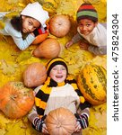 cheerful kids of the school age ... | Shutterstock . vector #475824304