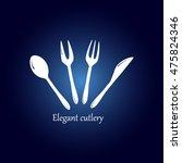 cutlery vector icon | Shutterstock .eps vector #475824346