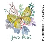 flower watercolor illustration. ...   Shutterstock . vector #475824910