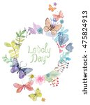flower watercolor illustration. ... | Shutterstock . vector #475824913
