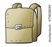 freehand drawn cartoon bag | Shutterstock . vector #475828090