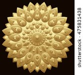 golden mandala. east  ethnic... | Shutterstock .eps vector #475831438